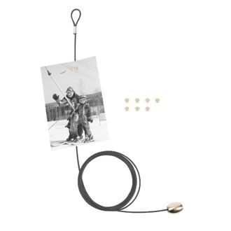 KIKKERLAND - Câble pour pêle-mêle photo noir - 8 magnets