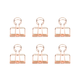 KIKKERLAND Set de 6 clips fil de fer cuivre