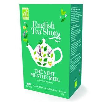 ENGLISH TEA SHOP - Thé vert biologique à la menthe, cannelle, réglisse et saveur miel boite 20 sachets