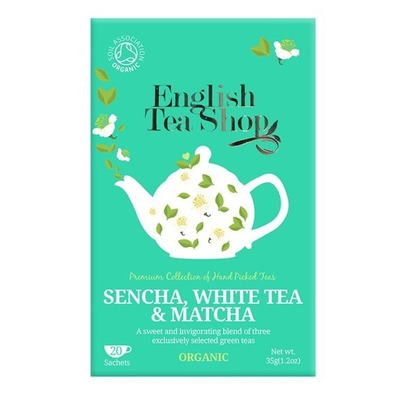 Thé vert bio sencha thé blanc Matcha 20 sachets
