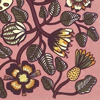 20 serviettes 33x33 cm marimekko tiara rose
