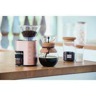 BODUM Cafetière filtre POUR OVER permanent en inox finition liège 0,5L