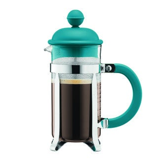 BODUM Cafetière piston 3 tasses turquoise 0,35L