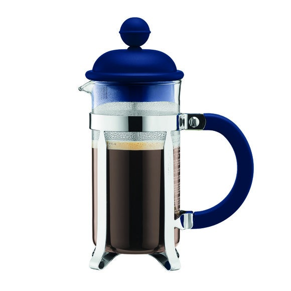 Cafetière piston 3 tasses bleu marine 0,35L