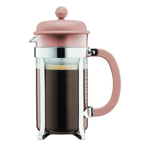 Cafetière piston 8 tasses beige 1L