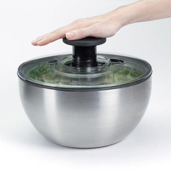 Centrifuga per insalata in acciaio inox Ø27cm