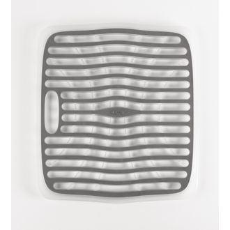 Fond d'évier anti-dérapant plastique blanc et gris 32x28cm