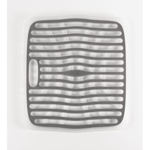 Base lavello antiscivolo in plastica bianca e grigia 32 x 28cm