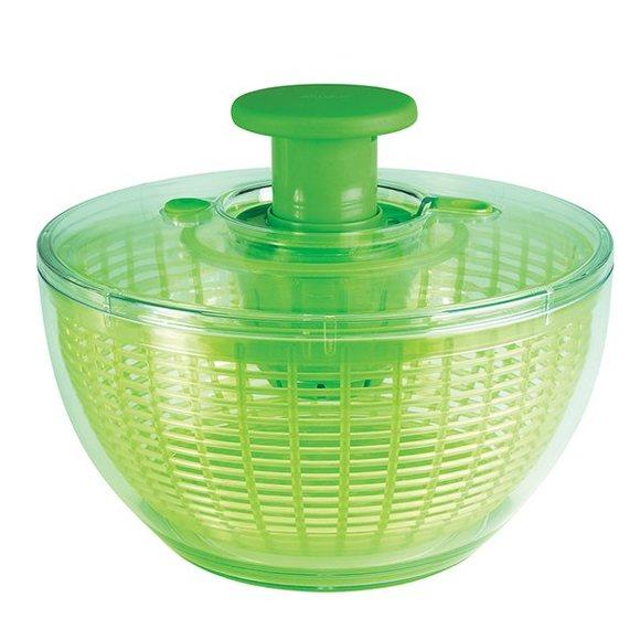 Centrifuga per insalata in plastica verde Ø27,5cm