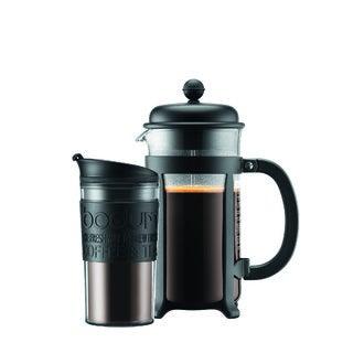 BODUM Coffret cafetière piston 8 tasses et un travel mug isotherme