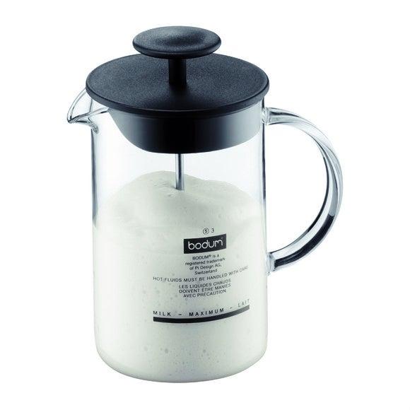 Achat en ligne Fouet à lait manuel Latteo avec anse en verre 0,25L