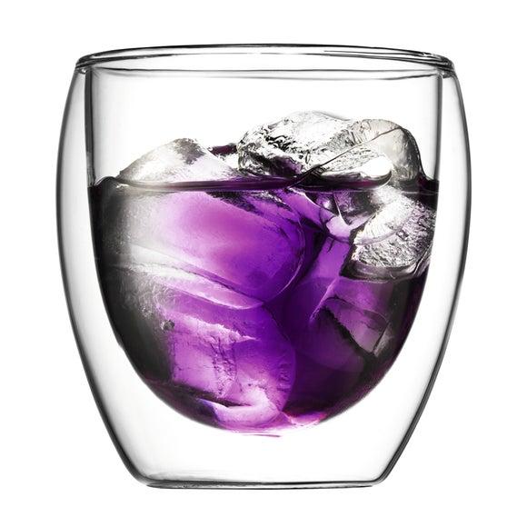 Achat en ligne 2 tasses à café en verre double paroi Pavina 27cl