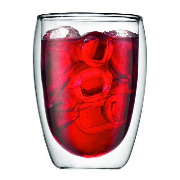 Achat en ligne  2 tasses à café en verre double paroi Pavina 35cl