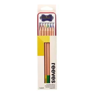 COLART - Indispensables 6 crayons de couleur + 1 taille crayon dans une boîte métal
