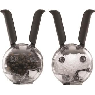 Coffret avec salière et poivrière lapin aimantés noir