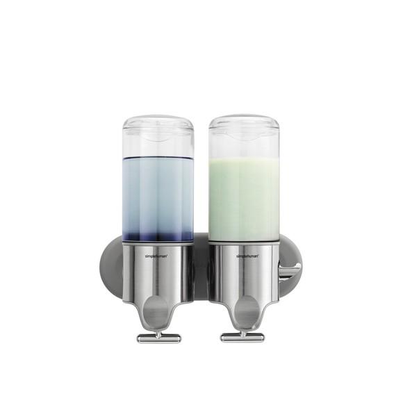 Distributeur de savon liquide double mural inox 2x444ml
