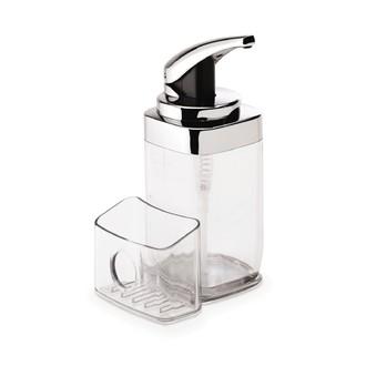 SIMPLEHUMAN - Distributeur de savon liquide avec rangement amovible plastique transparent 650ml