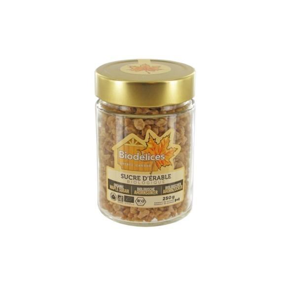 Sucre pépites d'érable biologique en pot 250g