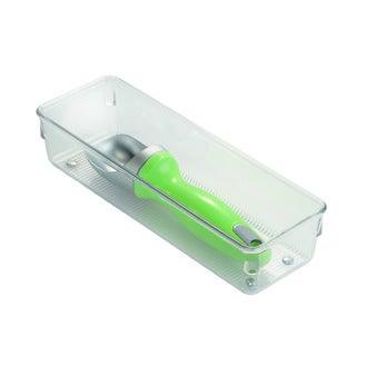 INTERDESIGN - Casier de rangement simple en plastique transparent 22,86x7,6x5,1cm