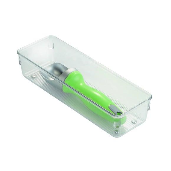 Casier de rangement simple en plastique 22,86x7,6x5,1cm