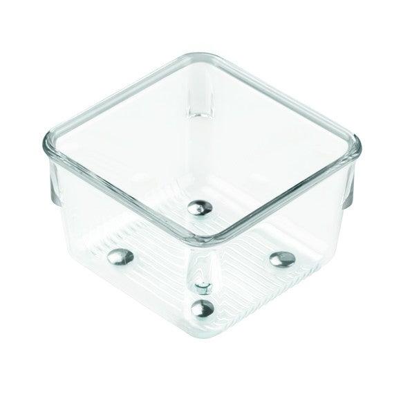 Casier rangement simple carré en plastique 7,6x7,6x5,1cm