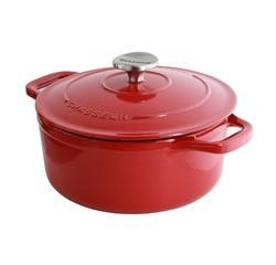 Achat en ligne Cocotte ovale en fonte rouge 20cm 2,3L