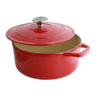 Cocotte ovale en fonte rouge 20cm 2,3l