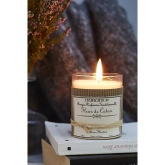 DURANCE - Bougie parfumée fleur de coton 180g