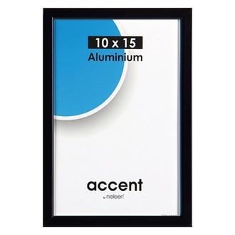 Cadre noir mat accent 10x15cm