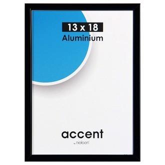 Cadre noir mat accent 13x18cm