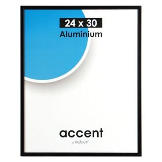Cadre noir mat accent 24x30cm