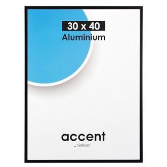 Cadre noir mat accent 30x40cm