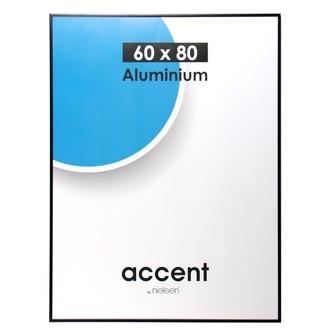 Cadre accent noir mat 60x80
