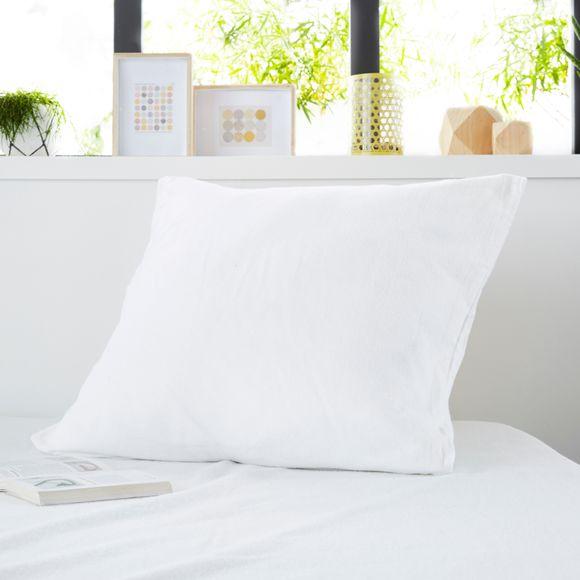 Protège oreiller en molleton absorbant zippé 65X65cm