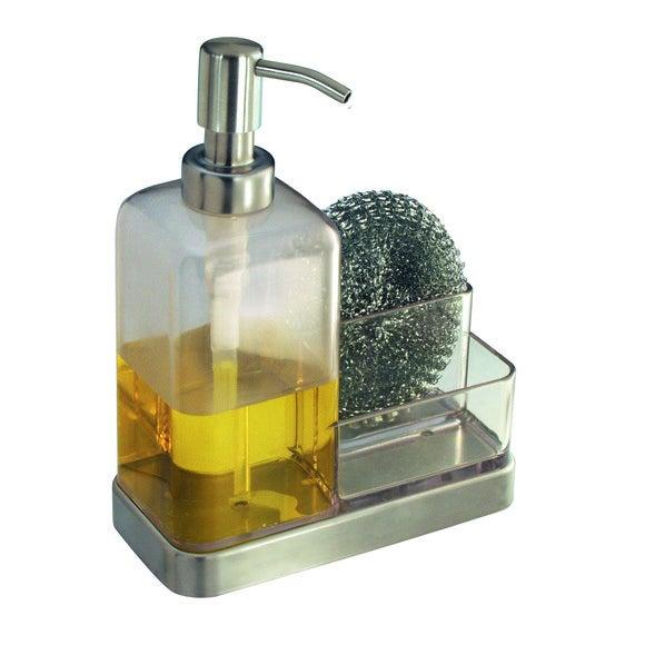 Distributore di sapone liquido e portaspugna 470ml