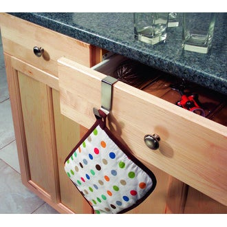 INTERDESIGN - Crochet torchon sur porte inox brossé