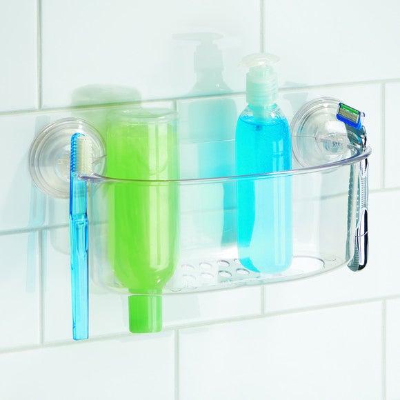 Panier de douche à ventouse transparent Powerlock