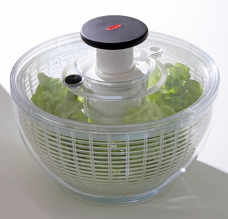 Essoreuse à salade transparente 26cm