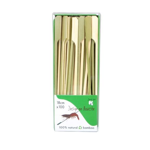 acquista online Stecchini per spiedini in legno da 18cm, 100 pezzi