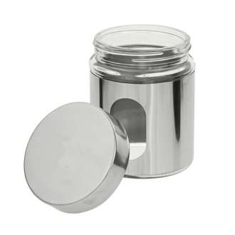 Pot de conservation à hublot en verre et chrome 0,5L