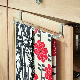 INTERDESIGN - Barre porte torchon sur porte en inox 26x6x6cm