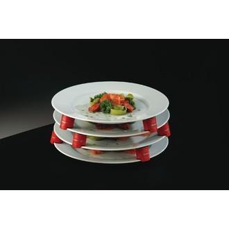 Espace assiettes rouge en lot de 9