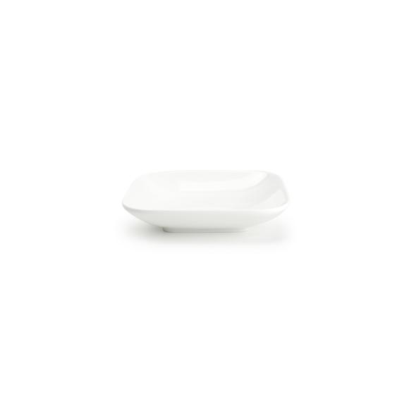 Coupelle carrée en porcelaine Match 15,3x15,3x3,2cm