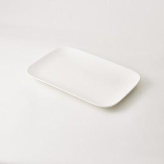 Plat de service rectangulaire en porcelaine 33,6x21,8x2,7cm