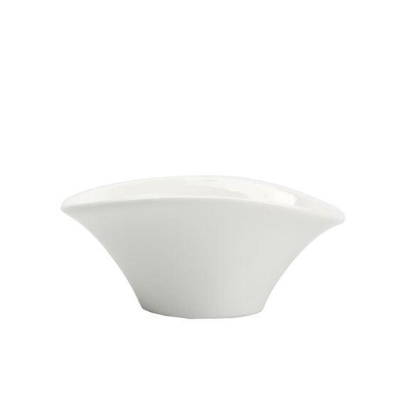 Coupelle en porcelaine blanche Corolle H4x7x10cm