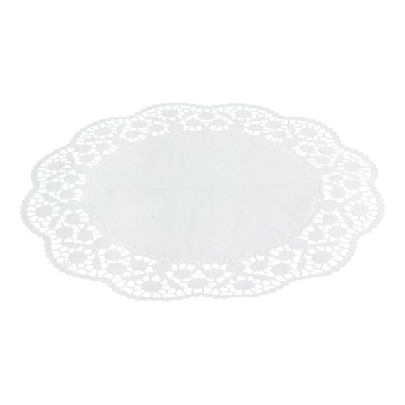 compra en línea Set de 12 tapetes de encaje blanco redondos para tartas (Ø36 cm)