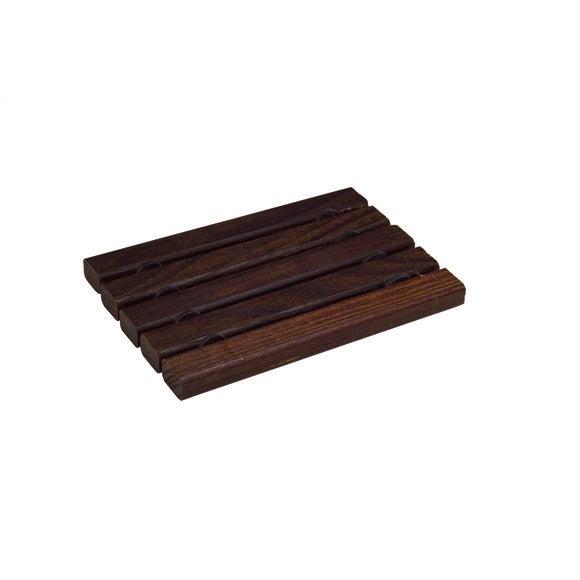 Porte-savon plat en thermobois huilie marron