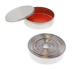 Achat en ligne Set de 14 emporte-pièces ronds lisses en inox de 3,5 à 11cm