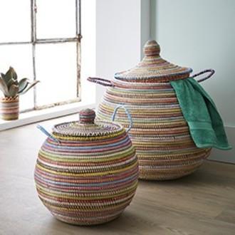 Panier à linge multicolores Ali Baba 50 cm