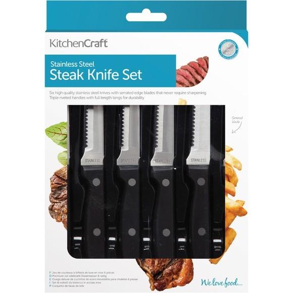 Set di 6 coltelli da bistecca Deluxe